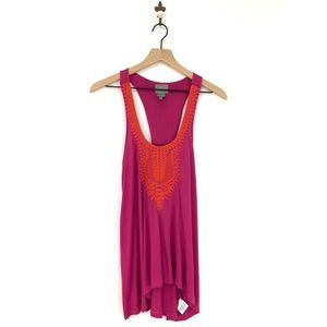 Anthropologie Vanessa Virginia Devi Tank Top Pink